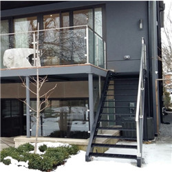 Stainless Steel Railing Outdoor Staircase Designs