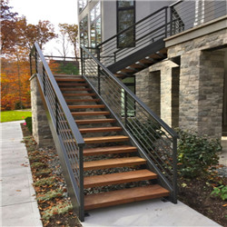 Painting Black Finish Steel Outdoor Stairs Garden Steps