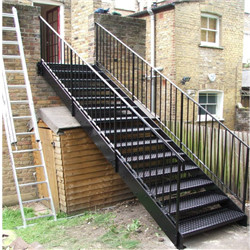 Prefabricated Exterior Stairs Galvanized External Outdoor Stairs Prefab