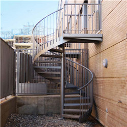 Prefabricated Exterior Stairs Metal Outdoor Stairs Hot Sale