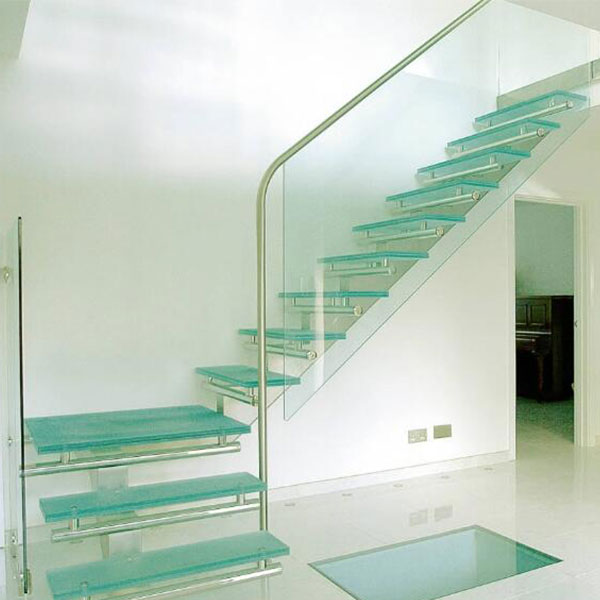 Beau New Arrival Non Slip Stair For Sale Glass Stair Treads Glass Straight Stair