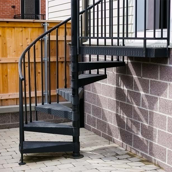 Outdoor Metal Spiral Staircase Galvanized Stairs Spiral