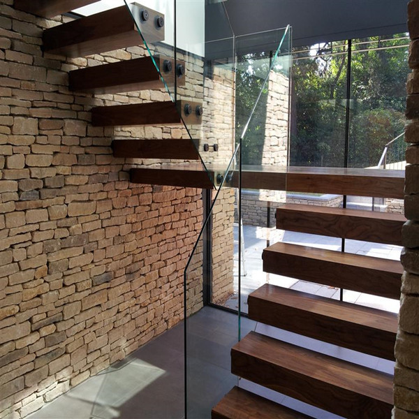 Outdoor Floating Stairs Florida Project: House Interior Glass Railing Wood Cantilevered Stairs