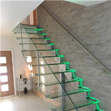 uk led glass floating staircase