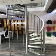 UK stainless steel glass spiral staircase