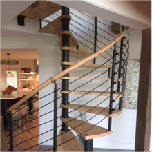 Canada wood steel indoor spiral staircase