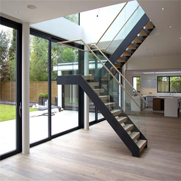 Modern indoor garden style mono beam staircase design ...